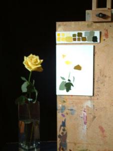 Rose in progress 1