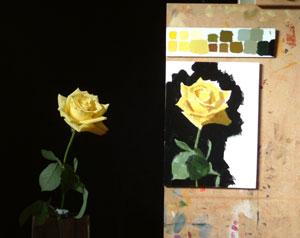 Rose in progress 3