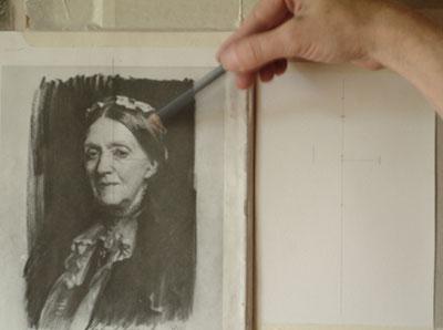 Sargent Portrait Copy - practicing angles