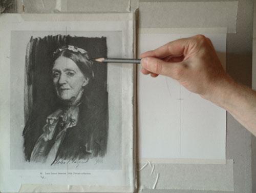 Sargent Portrait Copy - the top of the head