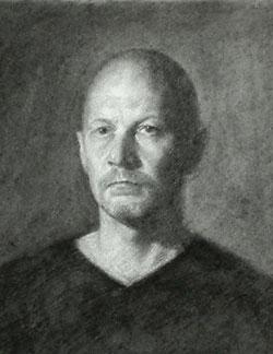Self Portrait Drawing - June 2011