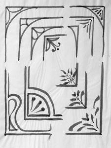 Practising transition: corner designs.