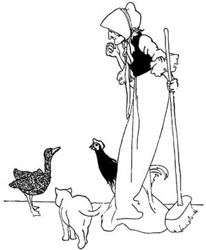 An illustration of the Ugly Duckling story by Charles Robinson.