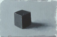 painting of a value 1 cube