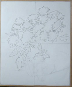Step 2 - drawing out completed