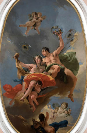 Tiepolo, the triumph of Zephyr and Flora