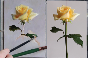 Flower painting with Munsell