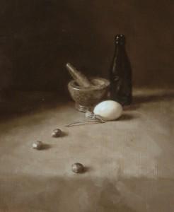 Tonal Still Life with Duck Egg
