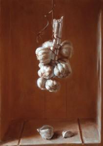 Still Life with Hanging Garlic