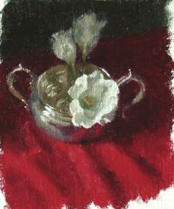 Sugar Bowl and White Flower