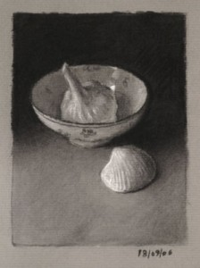 Garlic, Bowl and Shell