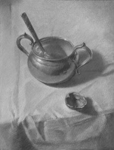 Sugar Bowl, Teaspoon, Walnut Shell